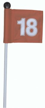 3ft - Fibreglass Pin with numbered flag complete